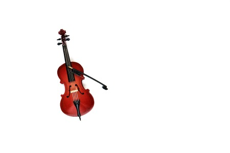 classical string instrument violin isolated on white background.