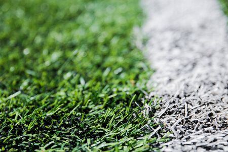 Green Football background with a vertical line. 스톡 콘텐츠