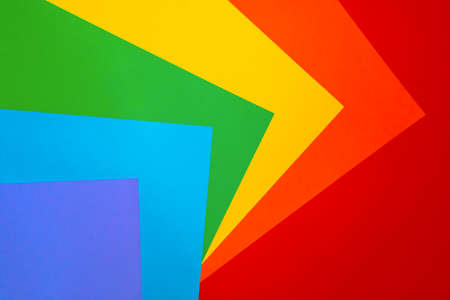Abstract rainbow background with colored paper. The concept of bright colorful colors. The view from the top. 版權商用圖片