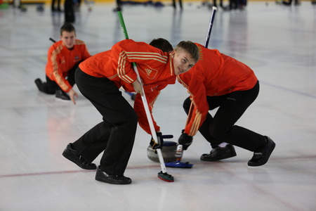 Sports curling competitions