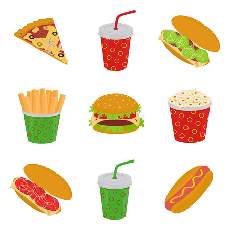 Fast food Stock Vector - 8855314