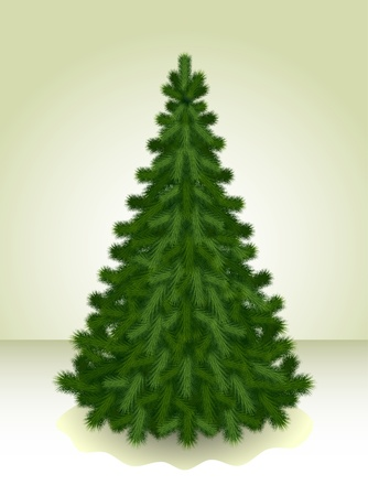 Illustration of the Сhristmas tree ready to decorate