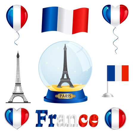 french flag: France set
