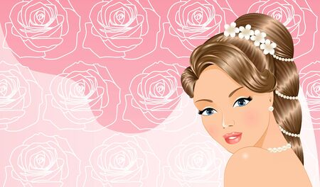 Beautiful Bride Illustration