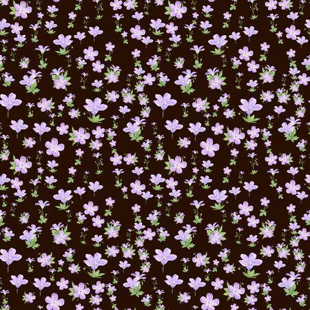 Seamless pattern of watercolor geranium flowers. Perfect for web design, cosmetics design, package, textile, wedding invitation, logo Stockfoto - 131657866