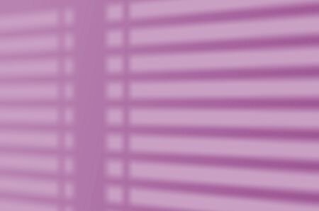 Shadow mockup. Blinds shade on a white wall. Abstract Summer background of shadows for overlaying a photo or mockup