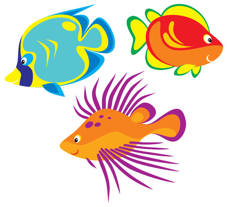 underwater fishes: Fish Illustration