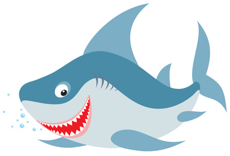 kiddish: Shark Illustration