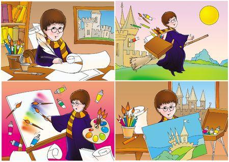Magic artist Stock Photo