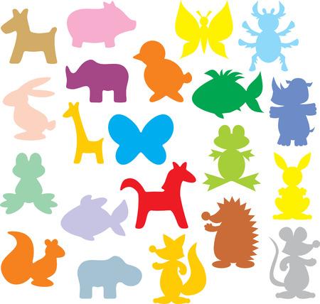 Silhouettes of animals Illustration
