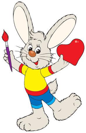 merry mood: Bunny painter