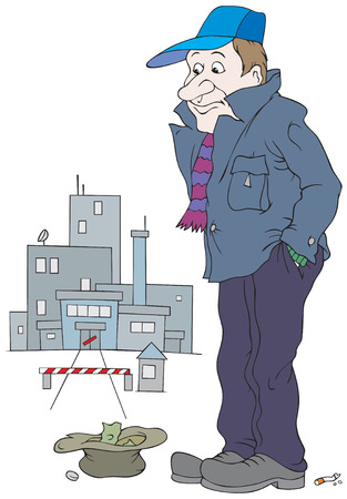 Desempleados Ilustración de vector