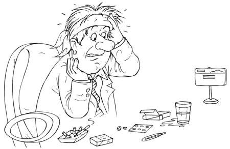 wirtschaftskrise: Kopfschmerz von wirtschaftlichen Krise  Lizenzfreie Bilder