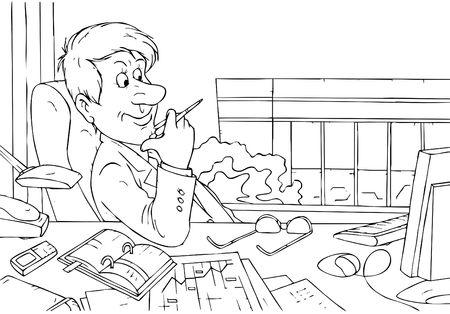 jobsite: Manager plans further development Stock Photo