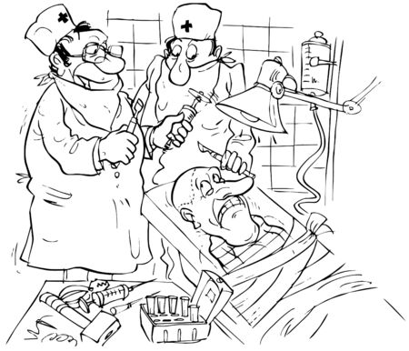 operated: Patient and surgeons