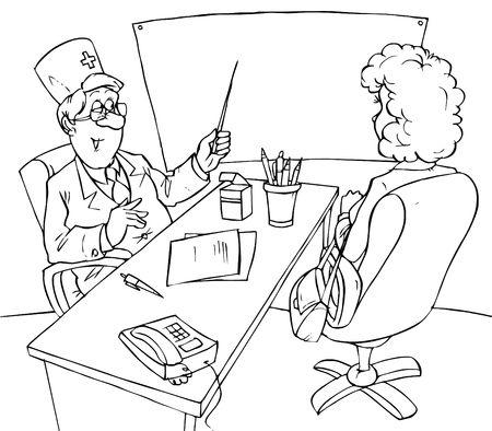 consultation: Antenatal clinic Stock Photo