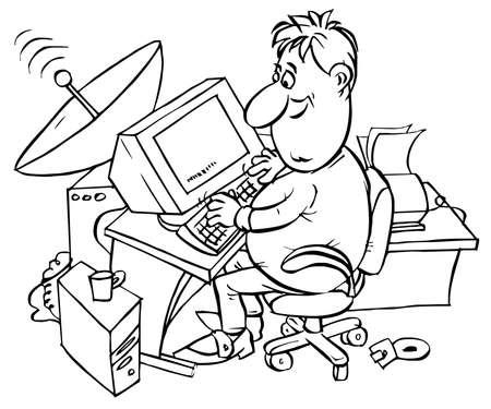 worksite: Computer user