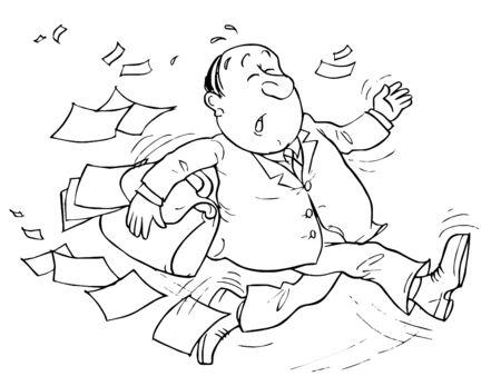 clerical: Running Clerk Stock Photo