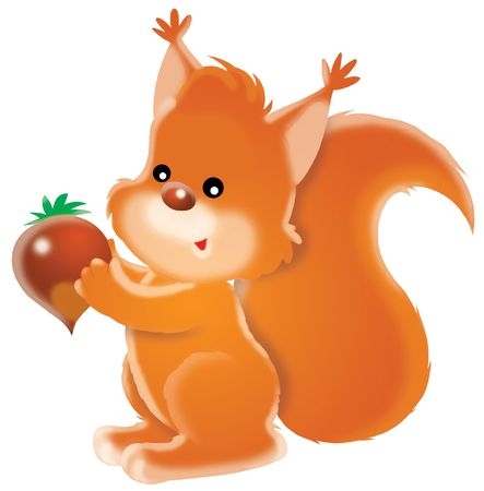 Squirrel with nut Stock Photo - 5919313