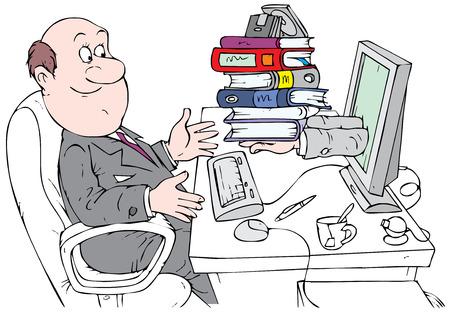 bookkeeper: Contable trabajando con servicio de Internet