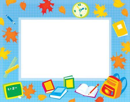 cartoon frame: Scuola di frontiera per le foto e il testo