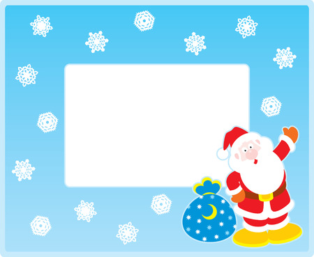 Vector border with Santa Claus Vector