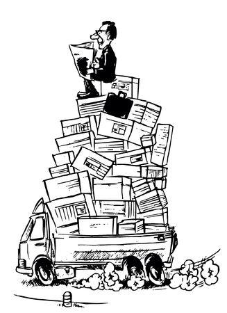 Logistics manager Stock Photo