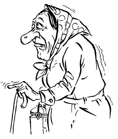 senile: Old woman