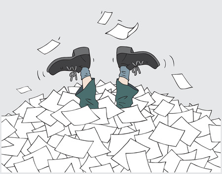 In the heap of documentation Illustration