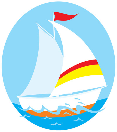 sailing vessel: Yacht Illustration