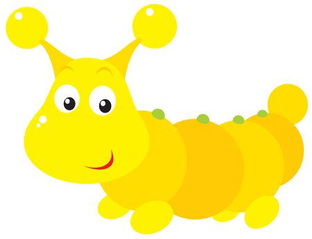 hexapod: Yellow caterpillar