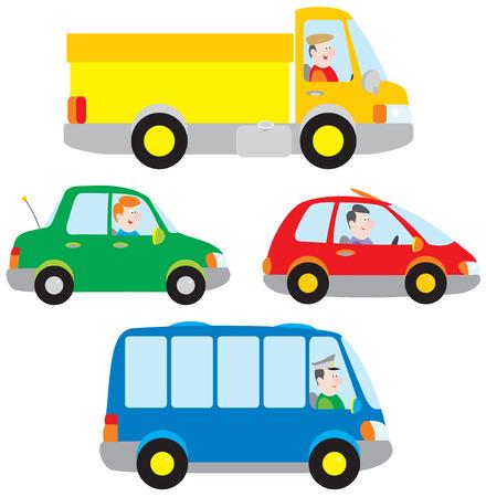 motor de carro: Coches, camiones y autobuses