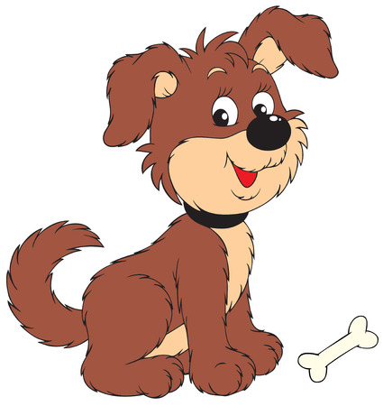 Dog with bone Stock Vector - 6377806