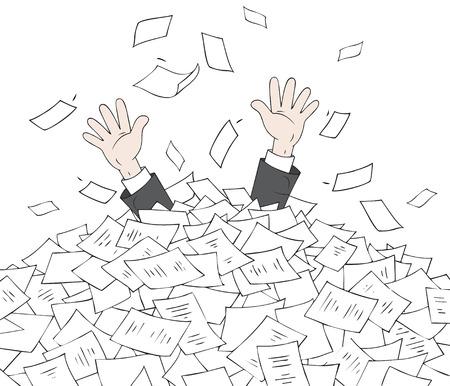 In heap of documents