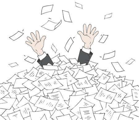 stapel papieren: In hoop van documenten