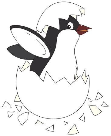 Hatching penguin