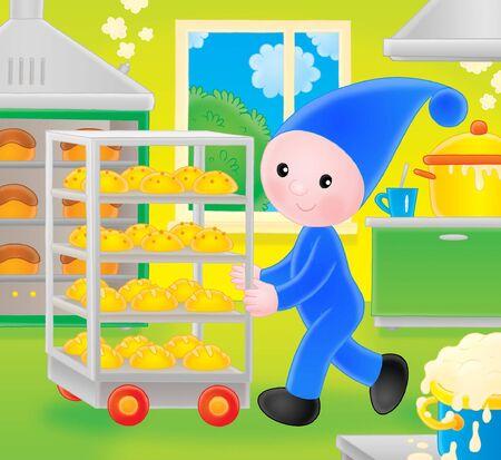 Little gnome baker Stock Photo - 6901073