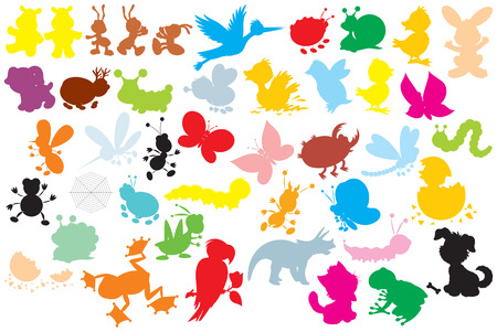 Silhouettes of animals Stock Vector - 6991828