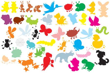 escarabajo: Siluetas de animales