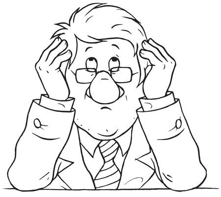 departmental: Worried businessman