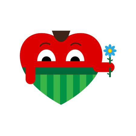 forelock: Heart a man gift a flower