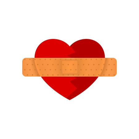 gladness: heart and bandage Illustration