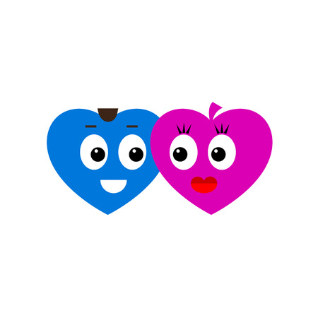 gladness: In love hearts Illustration