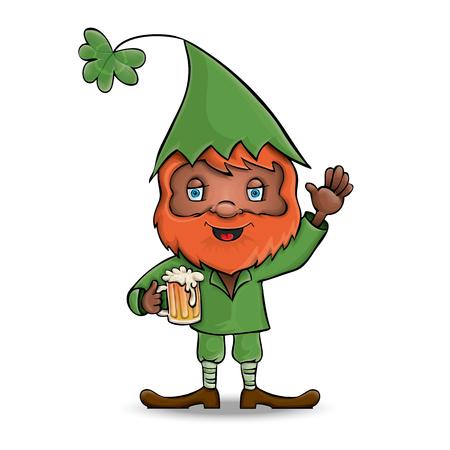 Character design. Vector illustration. Saint Patrick.
