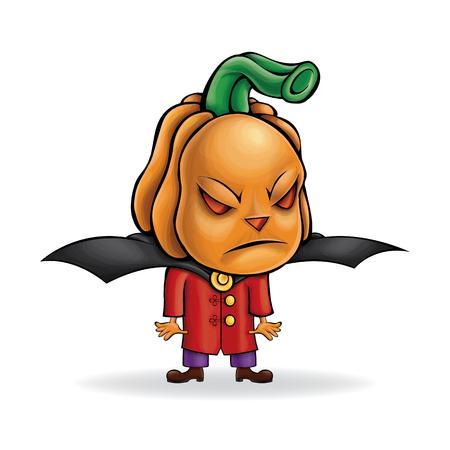 Vector malvado personaje de dibujos animados para Halloween. Foto de archivo - 88693634