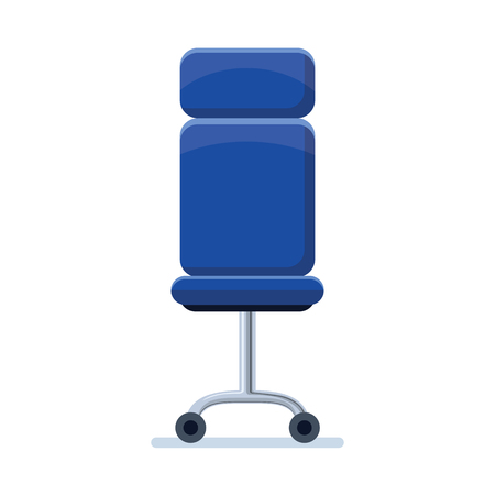 Office chair illustration isolated in white background.