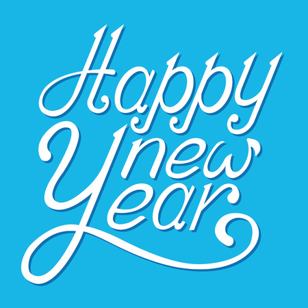 Happy New Year lettering design.