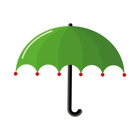 Green umbrella icon