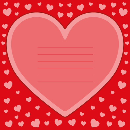 Romantic card design with hearts for Valentine's Day vector illustration