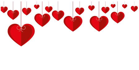 Romantic background with hearts. Vetores